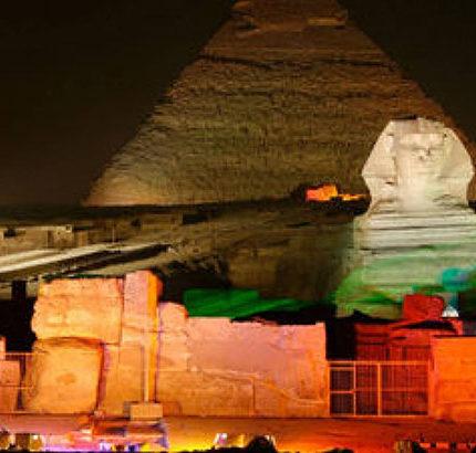 sound and light show Giza