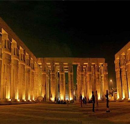 light show Luxor Egypt