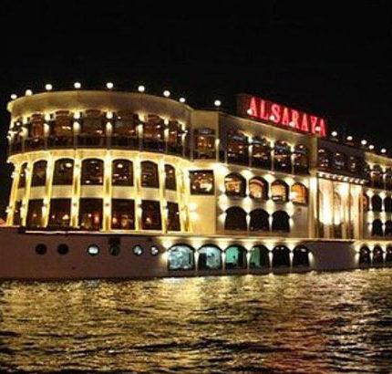 night lighting boat house Egypt